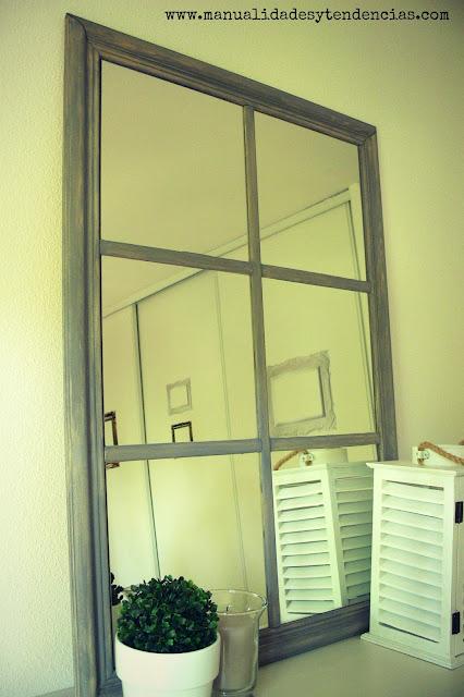 Espejo de cuarterones ikea hack