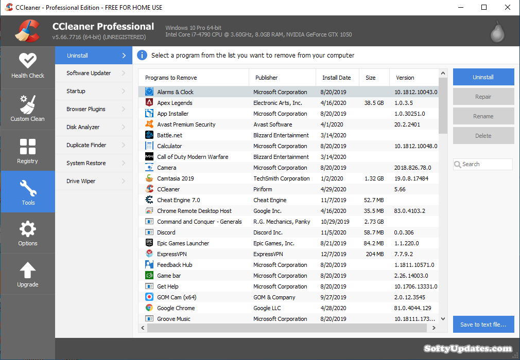 CCleaner 5.66.7716