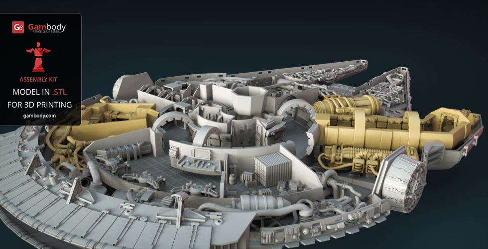 Star Wars - Millennium Falcon Interior 3D Printable Parts Kit 1