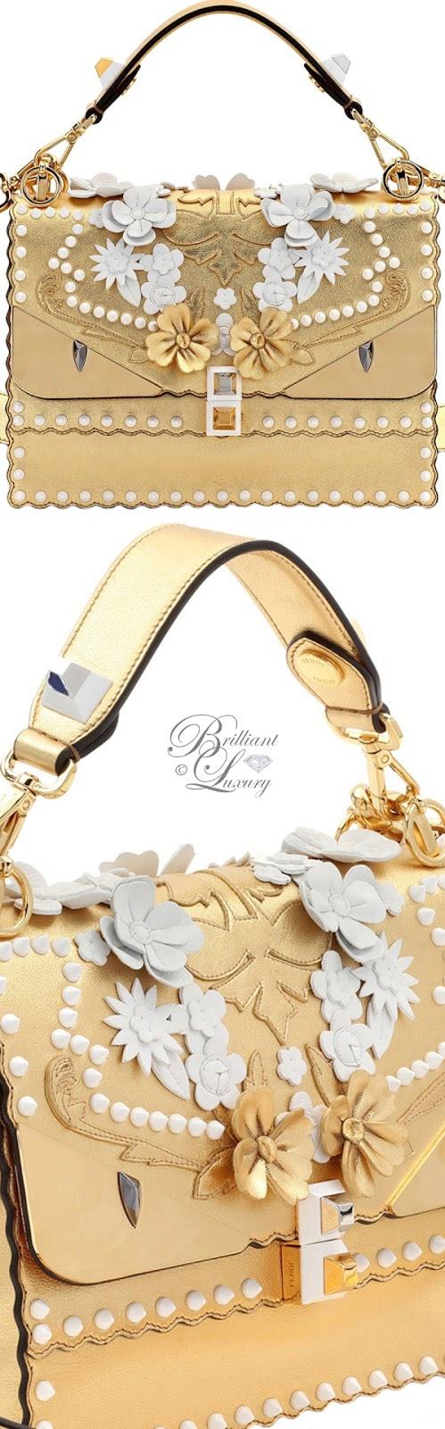 Brilliant Luxury ♦ Fendi Kan I Wonder Monster Shoulder Bag in White-Gold