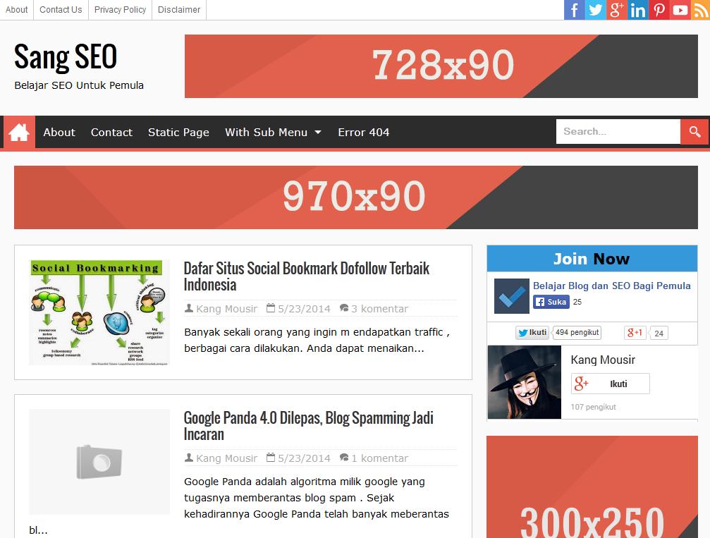 Sang Seo Responsive Blogger Template | Blogger Templates Gallery