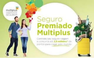 Cadastrar Promoção Corretora Multiplus 2018 Seguro Premiado 2,5 Milhões Pontos Viagens