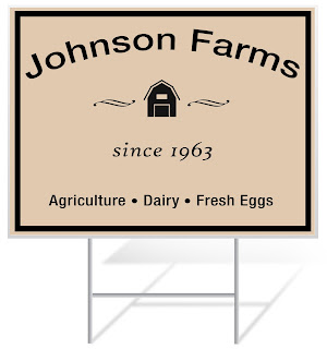 Johnson Farms Agriculture Lawn Sign | Lawnsigns.com