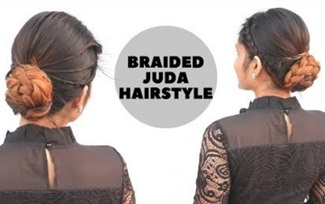 Braided Juda Hairstyle For Diwali | Indian Festive Hairstyle For | Hairstyle For Special Occasion