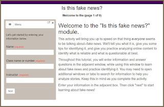 The Fake News tutorial