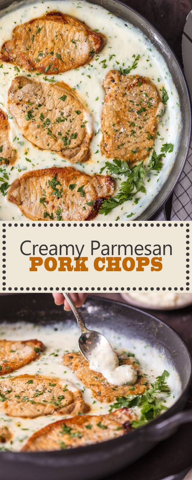 CREAMY PARMESAN PORK CHOPS