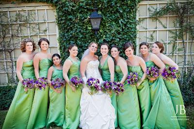 Purple & Green Wedding Delight by Stein Your Florist Co. Bride & Bridesmaids