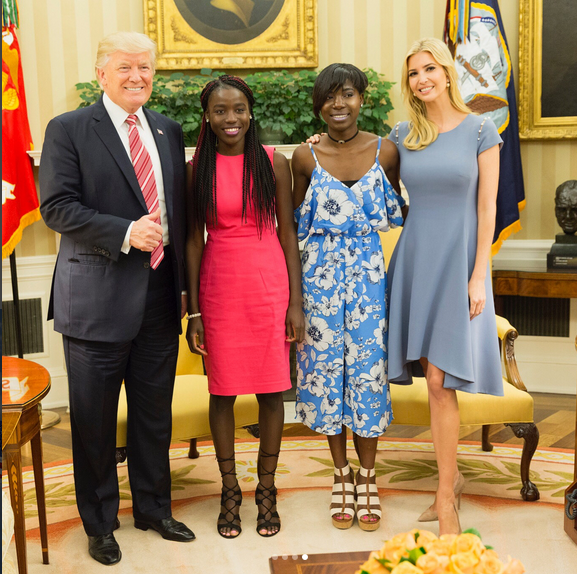 Donad-trump-Ivanka-Trump-and-Chibok-girls-bishopikediblog