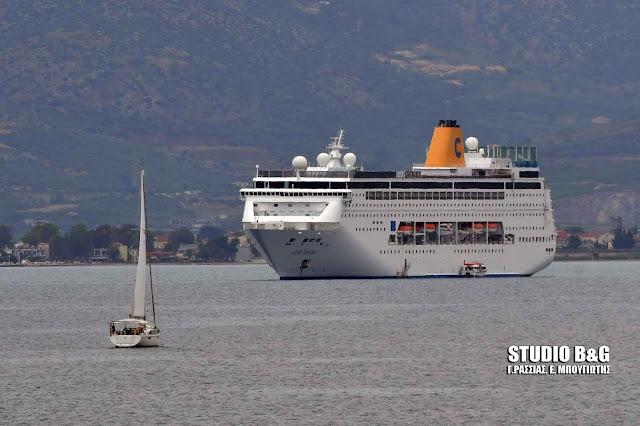 """Το κρουαζιερόπλοιο """"COSTA neo RIVIERA"""" στο Ναύπλιο με 1.158 επιβάτες"""