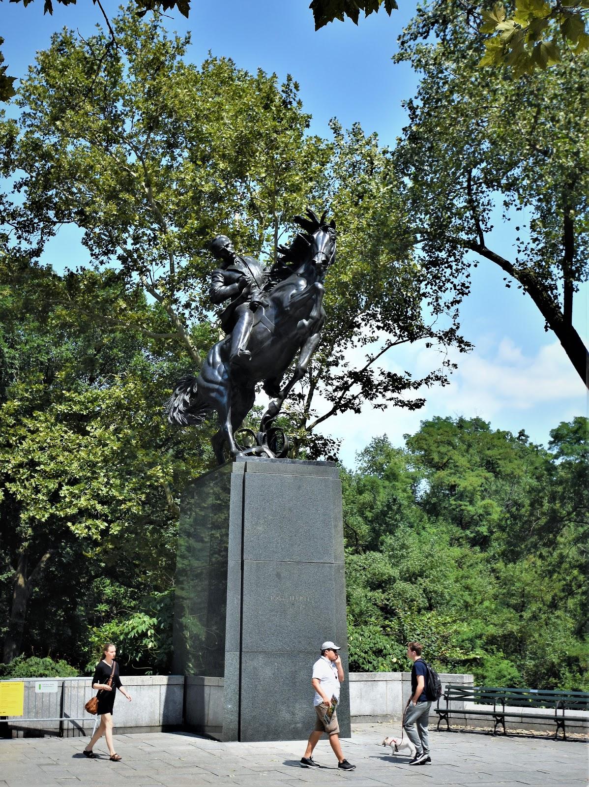 Daytonian In Manhattan The Jose Julian Marti Statue Central Park At 6th Avenue