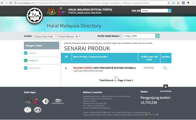 sijil halal patawali