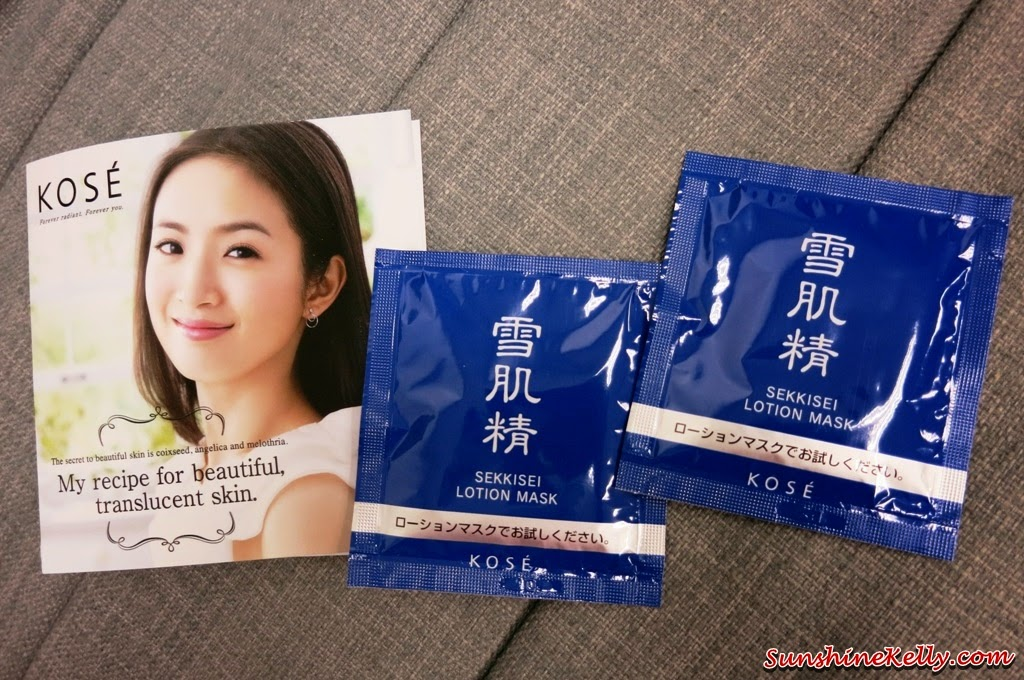 Kose Sekkisei Lotion Mask Review, Giveaway, Kose, Sekkisei lotion, sekkisei lotion mask, giveaway, mask review