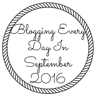 Blogging every day in September 2016