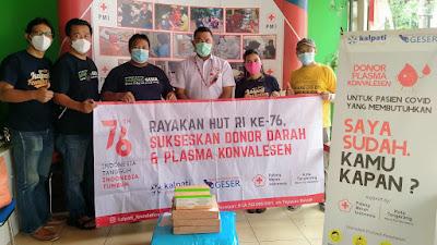 Keluarga Alumni Politeknik Gajah Tunggal alurkan Bantuan APD dan Vitamin untuk Petugas PMI Kota Tangerang