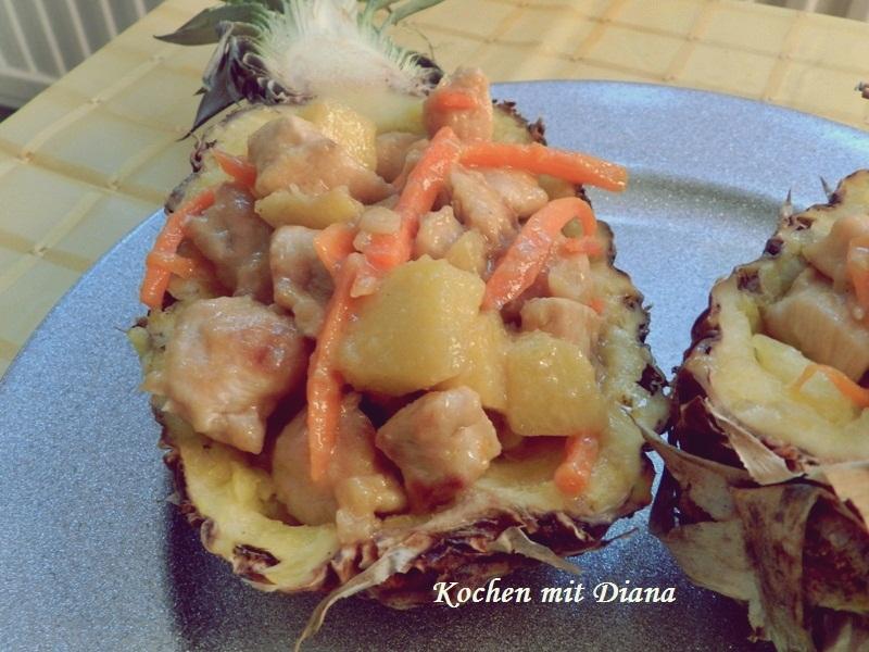 Hühnchen mit Ananas