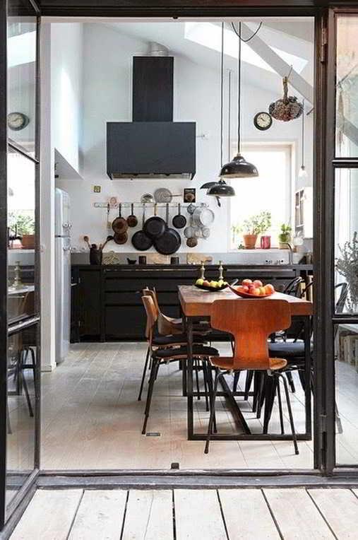 Contoh Desain Dapur dan Ruang Makan Minimalis Sempit Sederhana