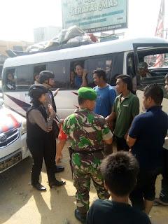 Sinergitas TNI Polri Dalam Melaksanakan Pengamanan Lebaran   Di Bagan Sinembah
