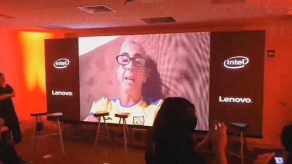 Natalia Malaga, mandó un video de aliento al  equipo peruano de Dota 2