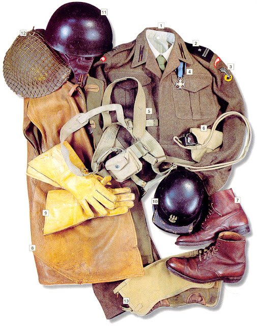 Military Uniform - Major, maintenance units of the 1st Polish Armoured Division (Germany 1945)