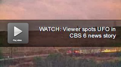 Viewer Spots UFO in CBS News Story | VIDEO
