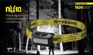 NITECORE NU10 USB rechargeable ultra lightweight headlamp