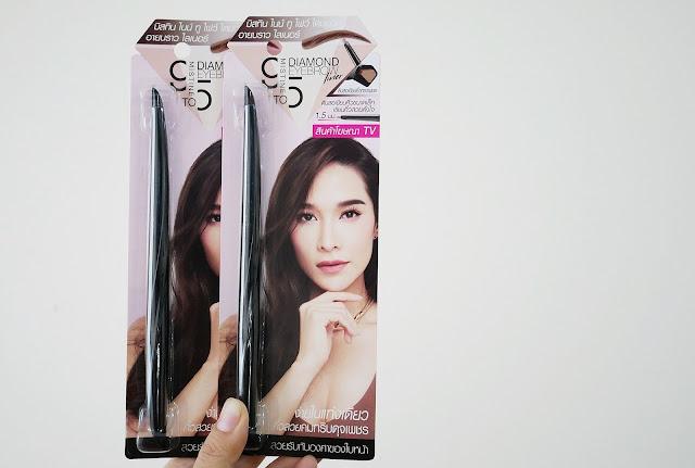 Mistine 9to5 Diamond Eyebrow Liner ดินสอเขียนคิ้ว 2หัว เหมาะสำหรับมือใหม่หัดเขียนคิ้ว