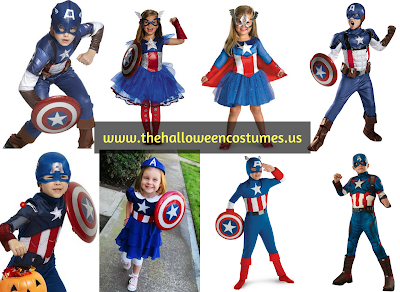 Captain America Halloween Costume for kids 2016
