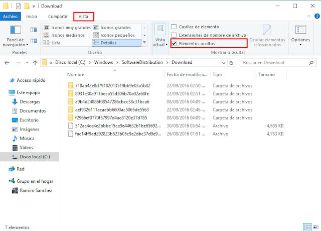 Eliminar archivos temporales después de actualizar a Windows 10