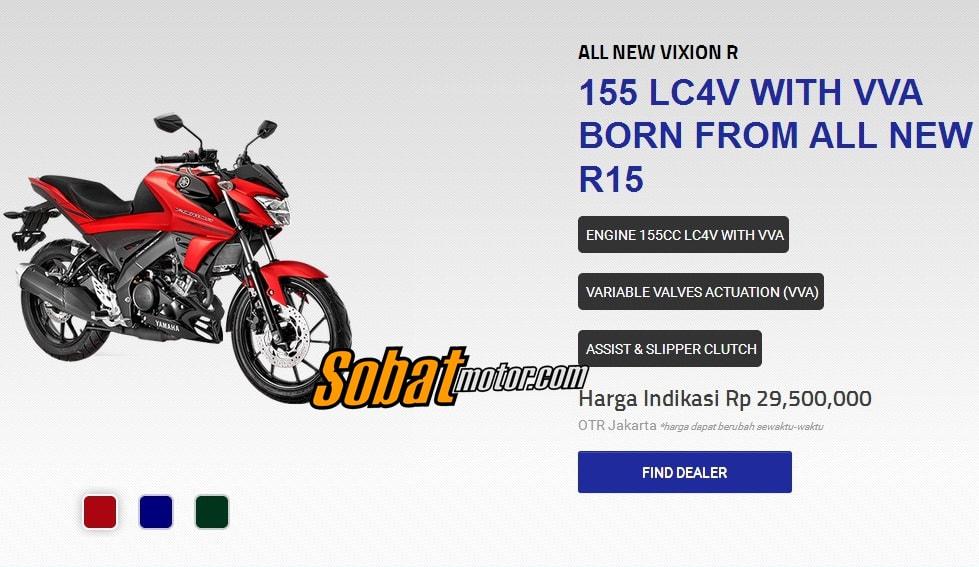 Harga OTR New Vixion R 155 VVA sudah keluar ? bedanya lumayan dari versi standar ?