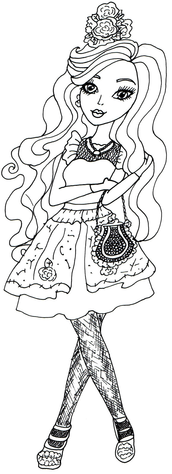 Free Printable Ever After High Coloring Pages: Briar