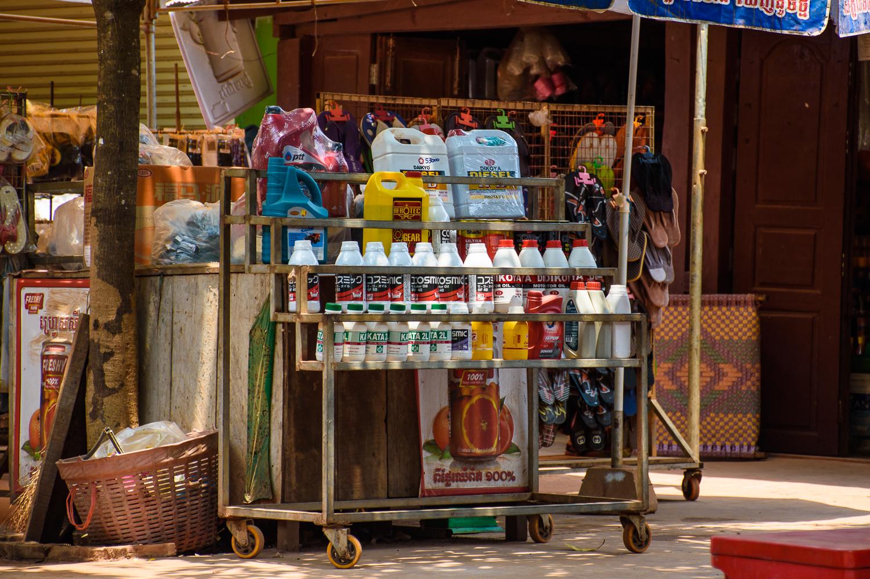 Siem reap cambodia street stalls