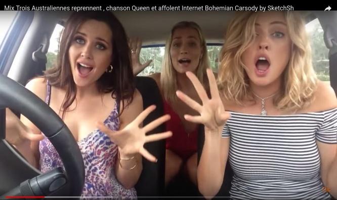 Mix Trois Australiennes reprennent , chanson Queen et affolent Internet Bohemian Carsody by SketchSh