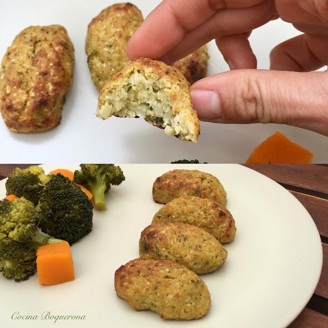 Croquetas de coliflor, brocoli y parmesano (al horno)