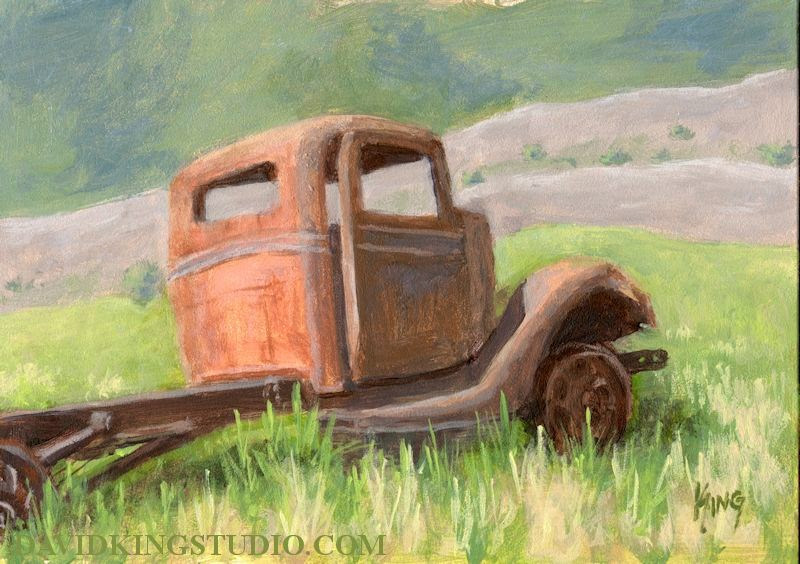 art painting truck abandoned Ford rust rusty derelict