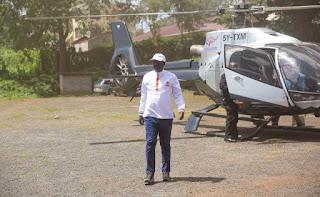 Raila Odinga in his private jet. PHOTO | Courtesy