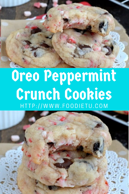 Christmas Oreo Peppermint Crunch Cookies
