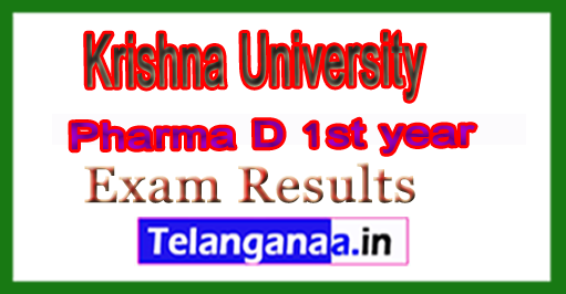 Krishna University Pharma D 1st year Exam Results 2018
