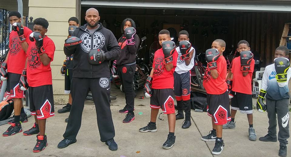 Derek Brown and the North Lawndale Boxing team