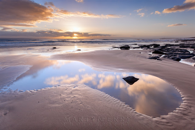 Sunset over Dunraven Bay in South Wales by Martyn Ferry Photography