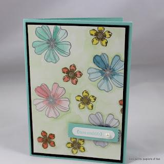 Carte aquarelle florale par Ilse Papercraft