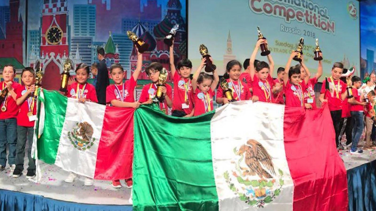 Nueve niños mexicanos ganan concurso internacional de cálculo mental en Rusia