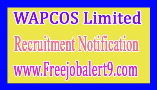 WAPCOS Limited Recruitment Notification 2017