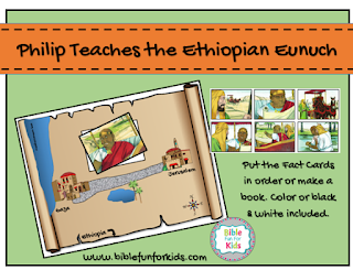 Bible Fun For Kids Philip And The Ethiopian Eunuch