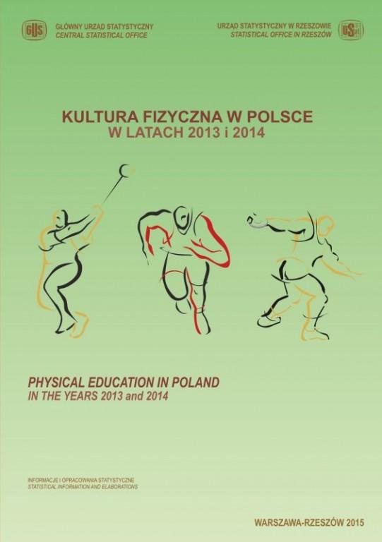 Kultura fizyczna w Polsce w latach 2013-2014 - okładka