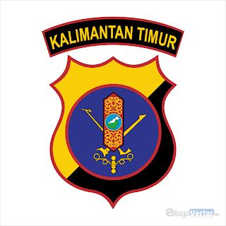 Polda kalimantan timur Logo vector (.cdr)