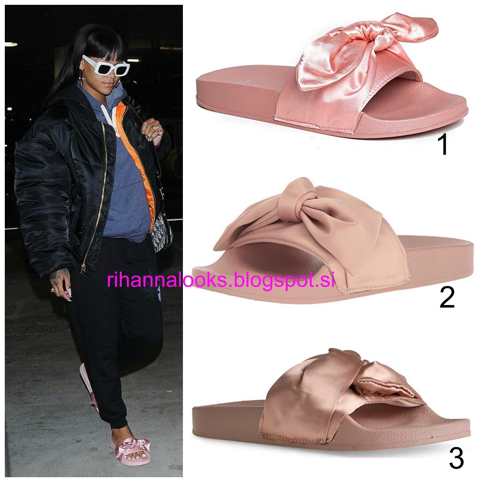 10f4aad11708bc RIHANNA Look for Less 37  Fenty X Puma By Rihanna Pink Bow Slide Sandals