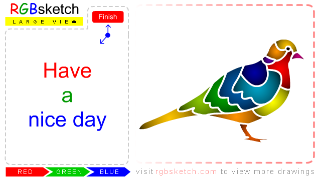 Easy Dove Drawing For Kids