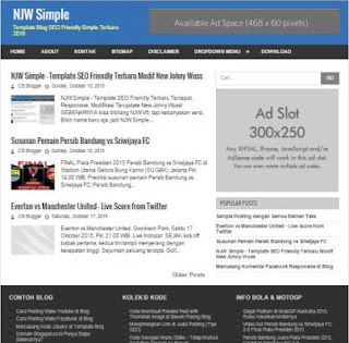 NJW Simple - New Seo Friendly Blogger Template