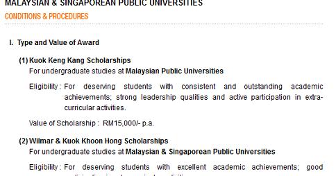Kuok Foundation Scholarship Application Form Online Pendidikanmalaysia Com