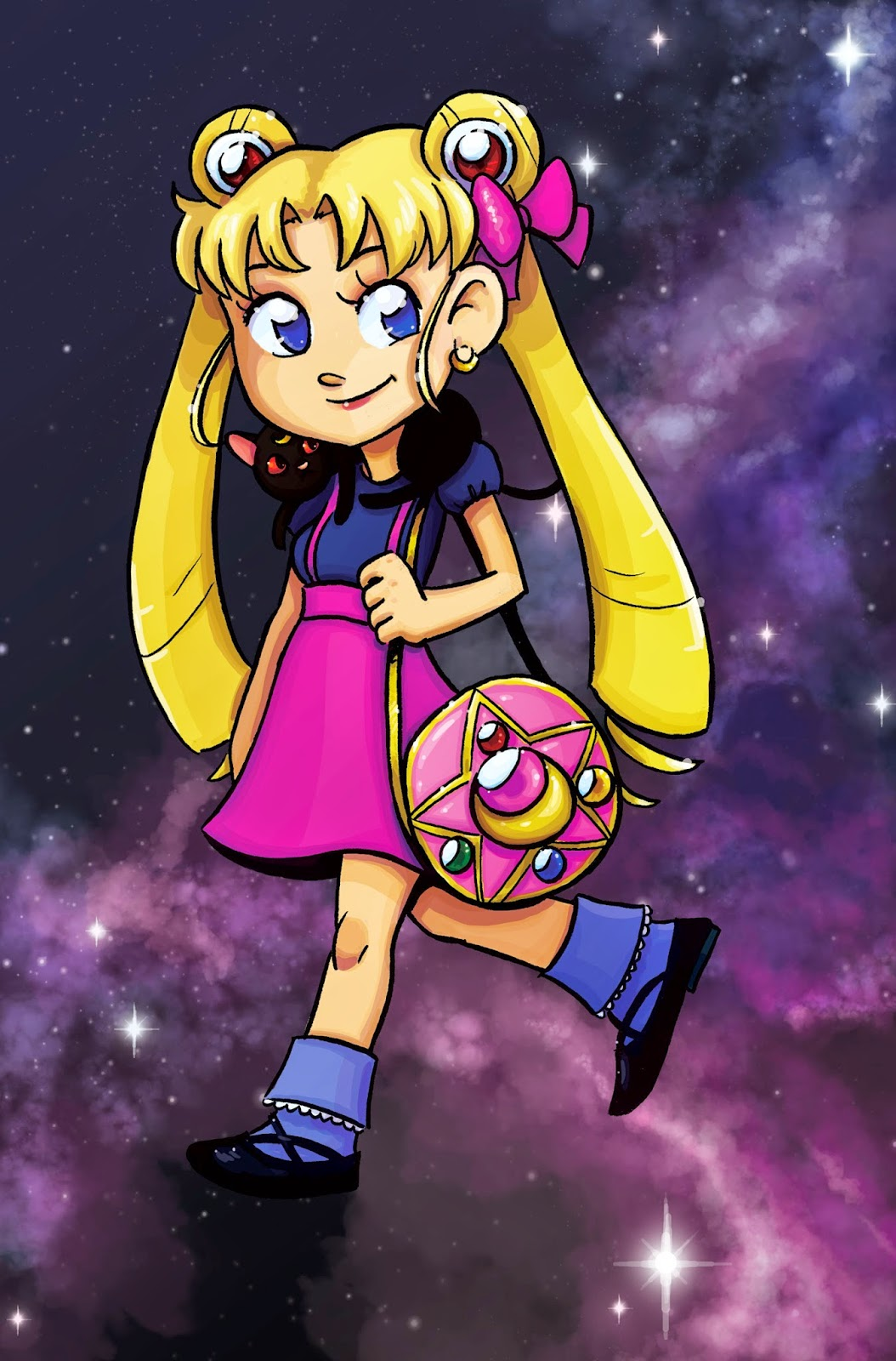 Usagi Tsukino, Sailor Moon, Serena, digital coloring, digital art, coloring with the Surface Pro 3